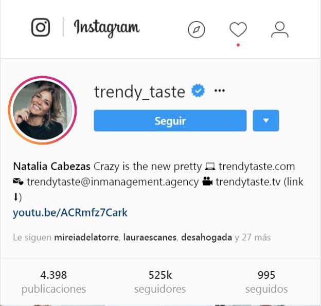 trendy_taste en instagram | Maria en la red