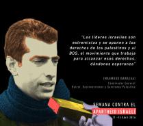 Cartel de BDS Chile.