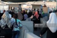 Checkpoint de Qalandiya, entrada a Jerusalén desde Ramala. (Getty).