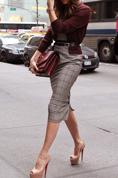 Pencil Skirt Fashion Style