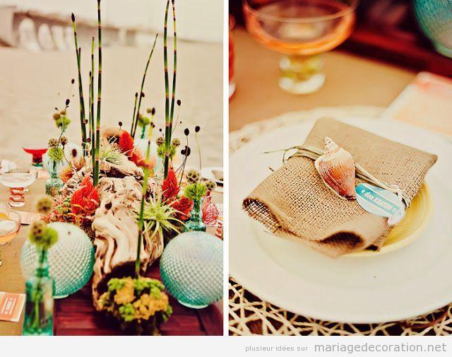 Id es pour d corer une table mariage sur la plage d coration mariage id es pour d corer un Centre table mariage plage idees