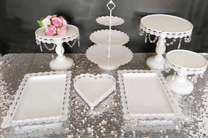 Lot de 7 supports Candy Bar Blanc Retro Chic 80€-