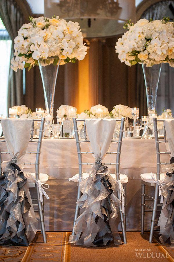 mariage chic en blanc et gris