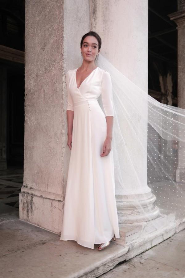 robe de mariée, collection mariage 2021, Maison Lemoine Paris, modèle Casilda