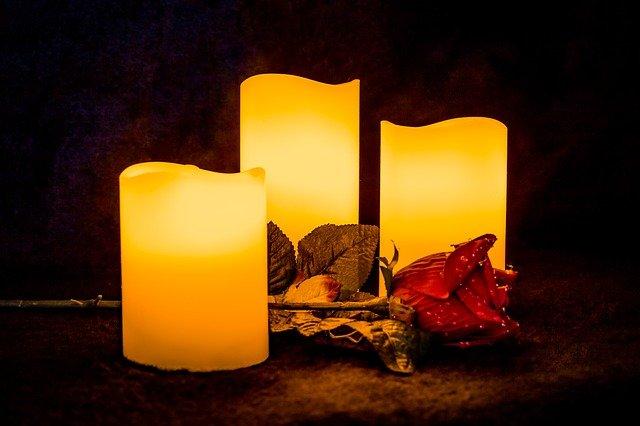 bougies artificielles décoration mariage écologique
