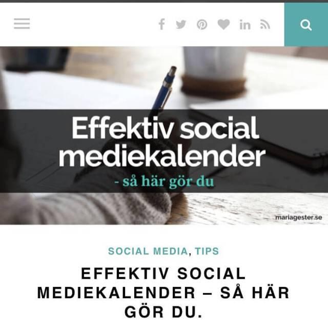 Ny bloggpost idag! S hr skapar du en effektiv socialhellip