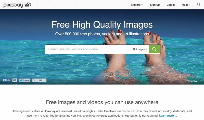 de 10 bästa sajterna med gratis bilder