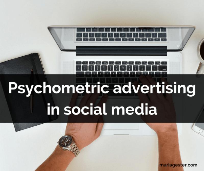 Psychometric advertising in social media