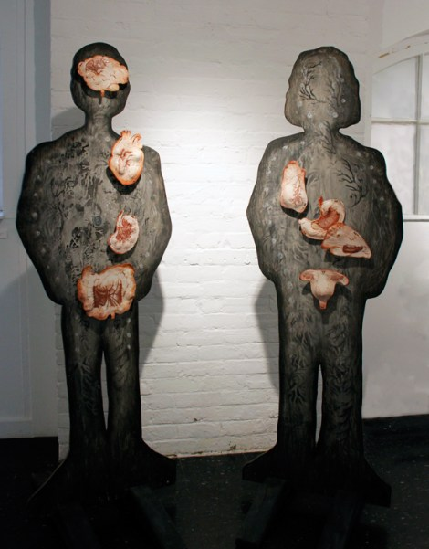 Me & You, ceramic organs on Plywood structure
