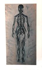 Black Nervous System, laser cut painted