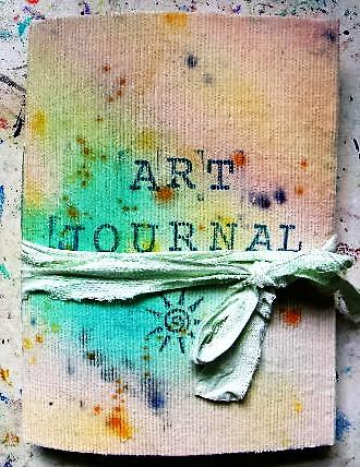 shabby chic art journal