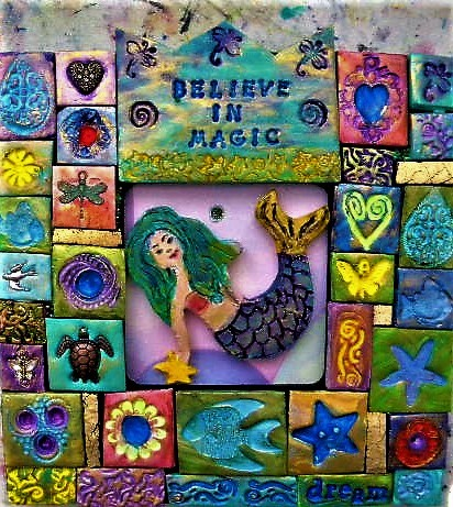 mermaid polymer clay