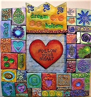 polymer clay mosaic art