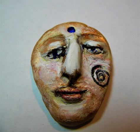 sculpted face