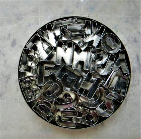 Fondant letter cutters