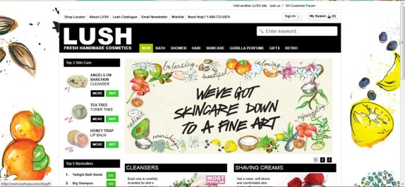 Lush USA Website