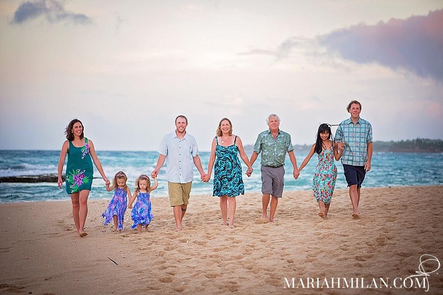 Sunset Family Portraits on Maui