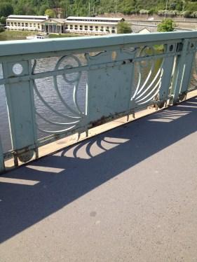 An art Nouveau style bridge in Prague