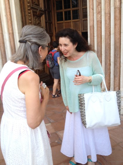Meeting with Angela Hewitt in Assisi