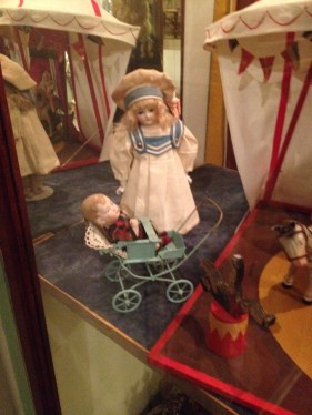 some of his dolls at the muesum