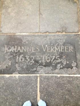 Vermeer's head stone in Delft
