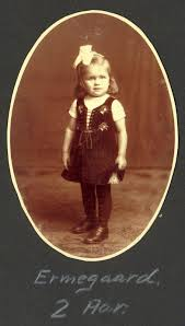 Ermegaard two years old in 1917