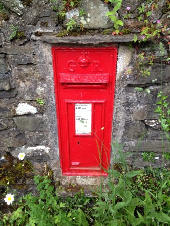 Wall box in Kendal Stavely in Lake District
