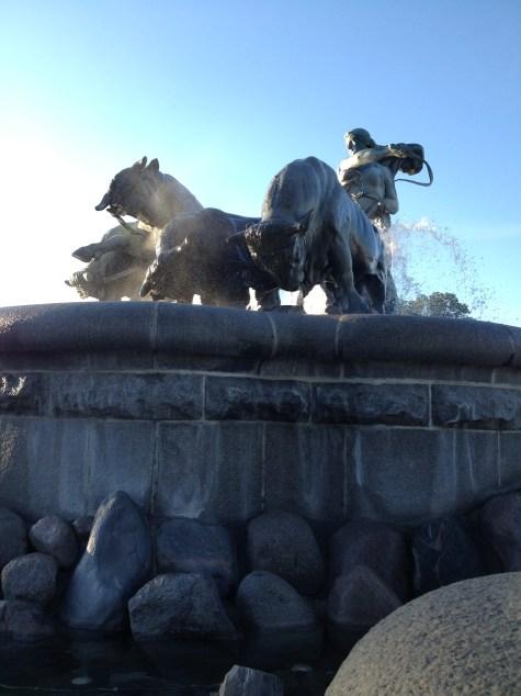 The Gefion Fountain in Copenhagen