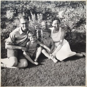 A happy moment in our garden 1955