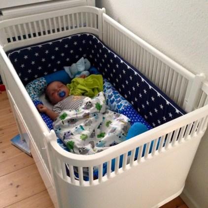 a restored old Juno cot bed. Image belongs to Lene Kullen Hansen
