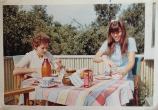 An English pen friend and me at my home in 1969