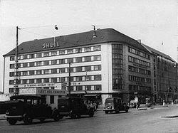 Shell House before it was bombed in March 1945