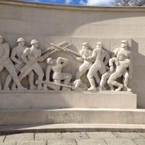The WWI War memorial in Aarhus