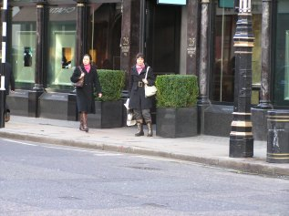 New Bond Street January 2007. The lamp stand is similar to the one on the painting