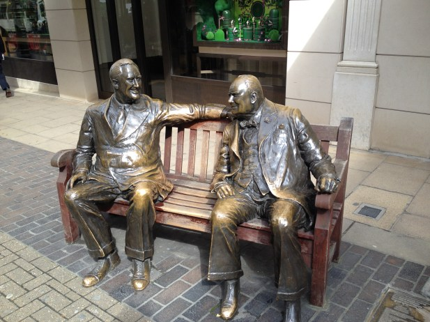 Roosevelt and Churchill sitting at Old and New Bond street in Mayfair
