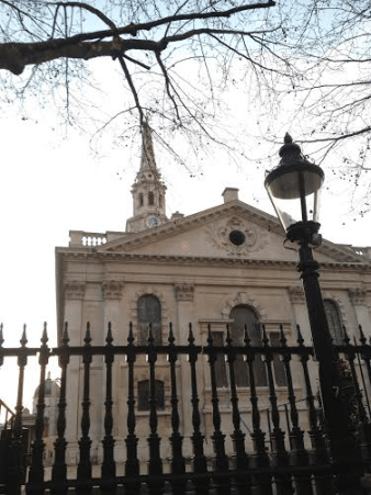 St Martin-in-the-Fields seen from Charing Cross Station and Strand