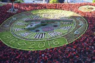 A hundred year old flower clock at Princes Street