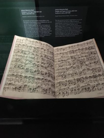 Original Bach Music notes in the Bach Museum