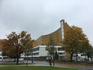 The Berlin Philharmonic Concert Hall in the old West Germany