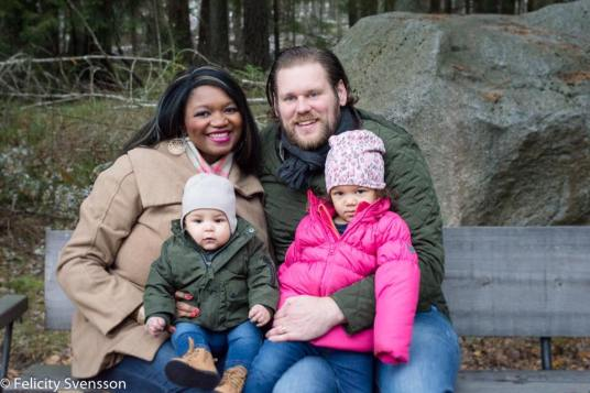 My eldest son and family in Sweden