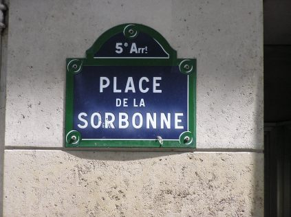"The address of the hotel ""Le Select"" at the left side of the Seine"
