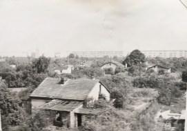 Worn houses along the railway in Eastern German