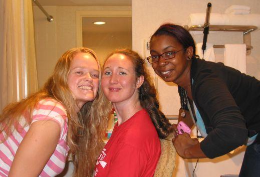 Friends Suzanna and Eboni (WRAMC, 12/28/08)