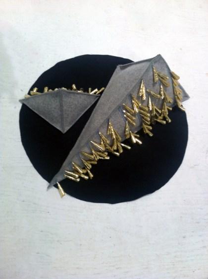 Triangle I and II, 2014 industrial felt with tin jingles