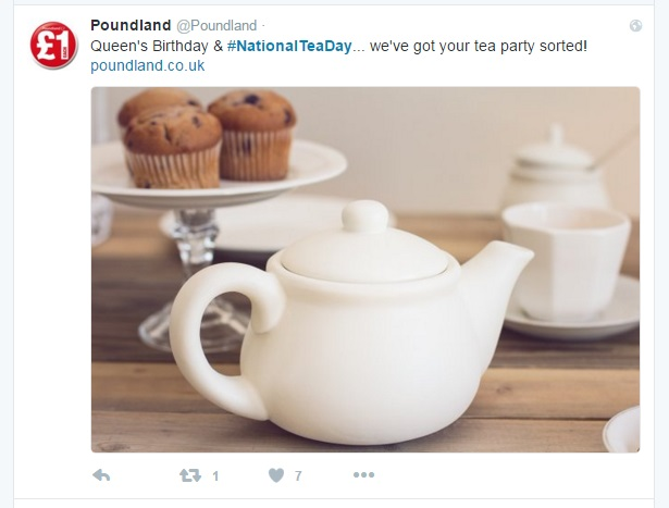 tea poundland