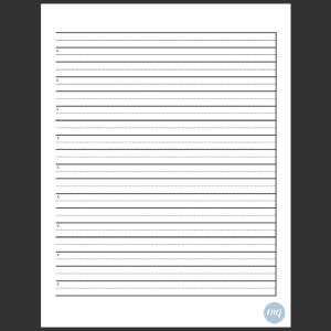 Calligraphy Practice Sheet