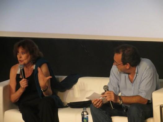 Cristina Fernández Cubas y José Manuel Fajardo (foto de Roberto Llanos)