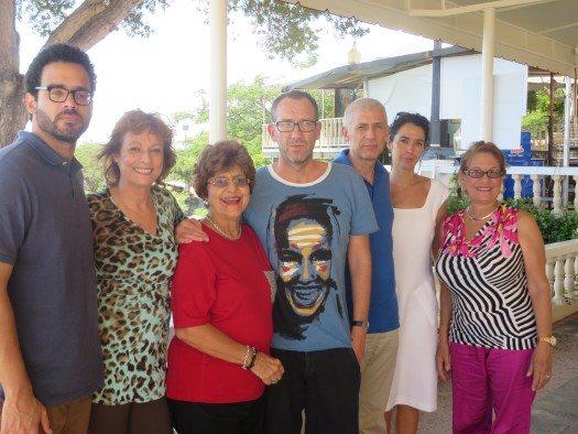 Los escritores Sergio Gutiérrez, María Juliana Villafañe, la Sra. Torruella, Ricardo Menéndez Salmón, José Ovejero, Edurne Portela y la directora del Centro.
