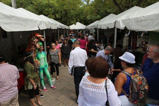 Foto del área de ventas de libros tomada por José Rafael Pérez Centeno, para SM
