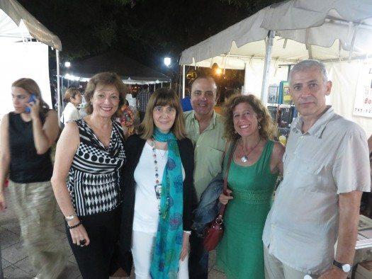 María Juliana Villafañe, Perla y Roberto Suez, Berna González Harbour y José Ovejero.